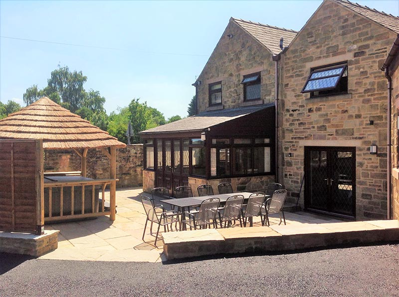 The Patio Area on beautiful sunny afternoon