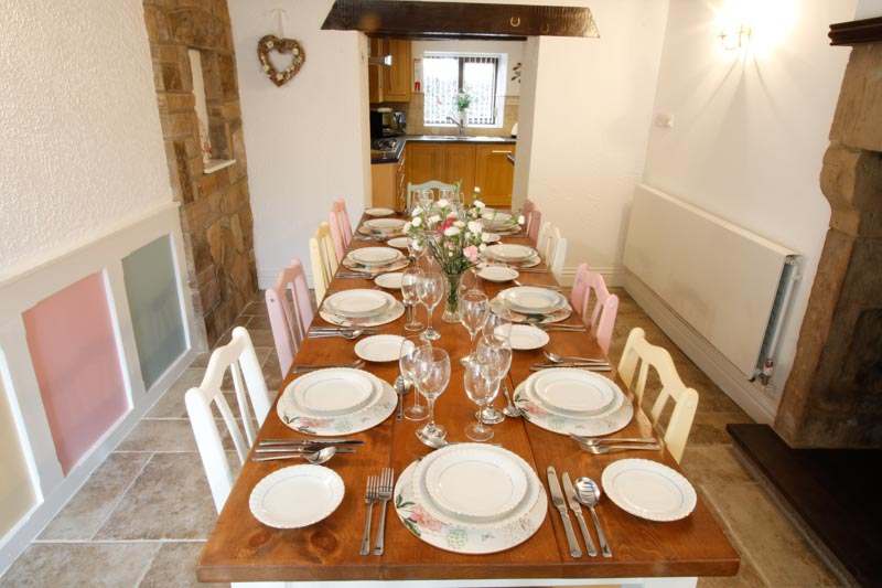 Dining Table next to Kitchen seats 10