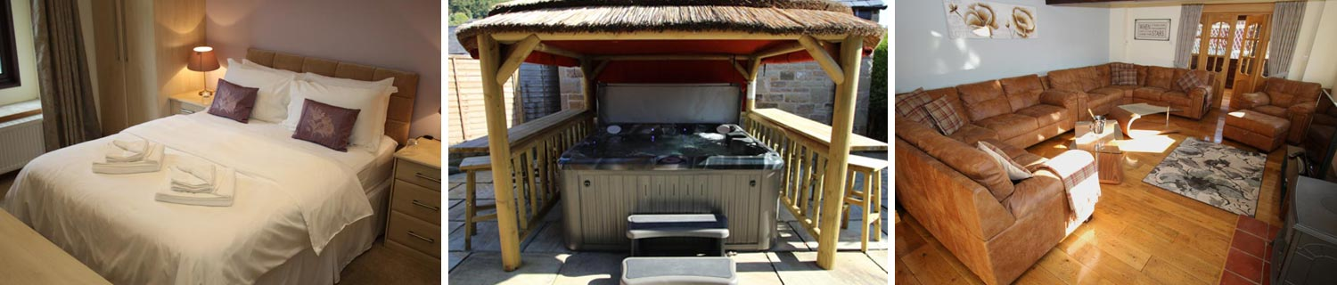 holiday home with hot tub derbyshire