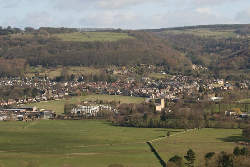 two dales village in the derbyshire peak district